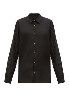 Ann Demeulemeester Sheer-sleeved cotton-poplin shirt