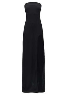 Ann Demeulemeester Side-slit wool-blend crepe dress