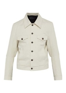 Ann Demeulemeester Single-breasted cotton-blend jacket