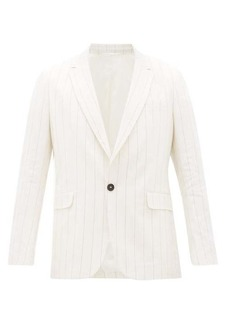 Ann Demeulemeester Single-breasted striped cotton-blend blazer