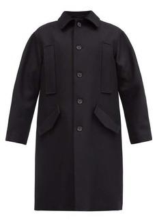 Ann Demeulemeester Single-breasted wool-blend overcoat