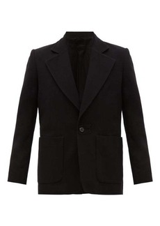 Ann Demeulemeester Single-breasted wool-blend twill suit jacket