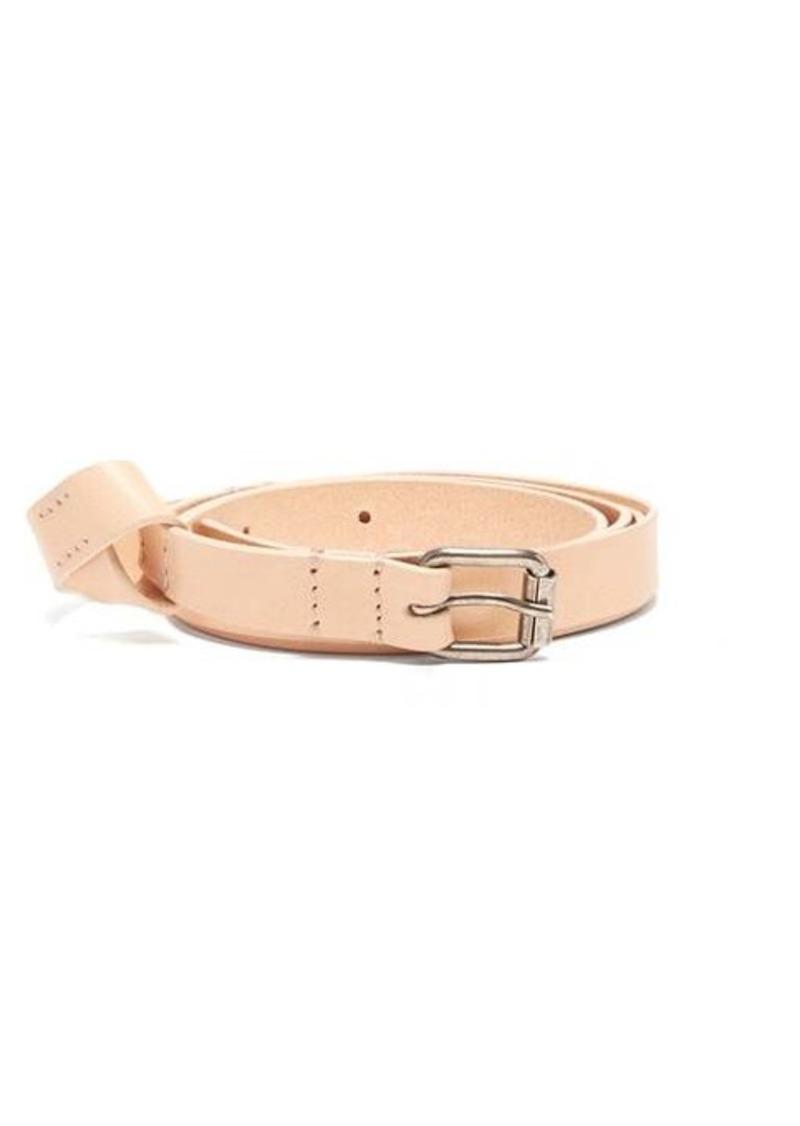 Ann Demeulemeester Skinny knot leather belt