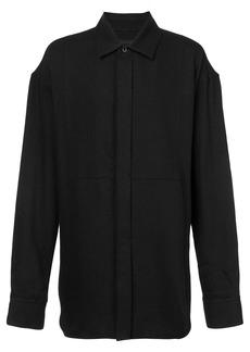 Ann Demeulemeester stitch detail shirt - Black