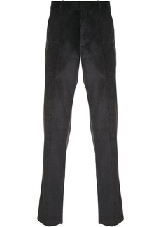 Ann Demeulemeester straight-leg corduroy trousers - Grey