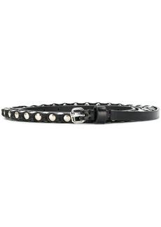 Ann Demeulemeester studded skinny belt - Black