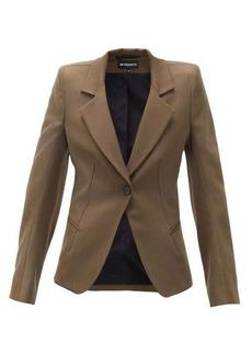 Ann Demeulemeester Tailored single-breasted wool-twill blazer
