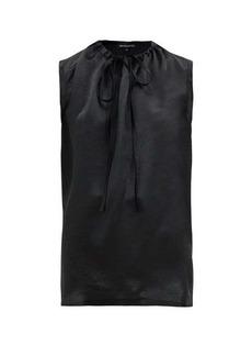 Ann Demeulemeester Tie-neck satin blouse