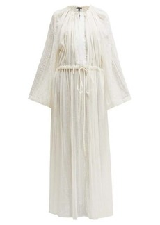 Ann Demeulemeester Tiriel gathered cotton-blend maxi dress