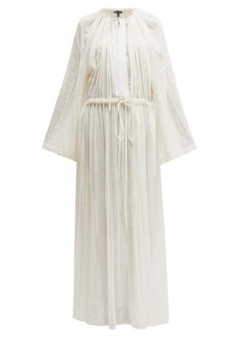 Ann Demeulemeester Tiriel gathered cotton-blend maxi dress