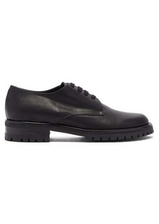 Ann Demeulemeester Tread-sole leather derby shoes