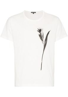 Ann Demeulemeester tulip print cotton t shirt - White