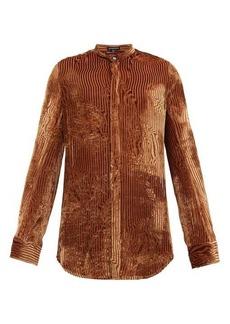 Ann Demeulemeester Vasily devoré-velvet shirt
