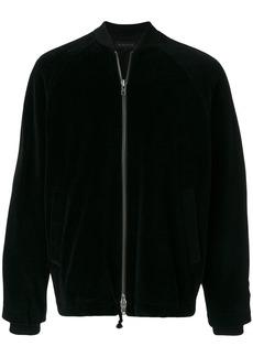 Ann Demeulemeester velvet bomber jacket - Black
