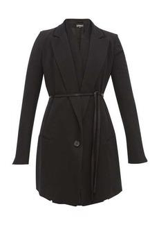Ann Demeulemeester Waistcoat-layered wool-blend twill jacket