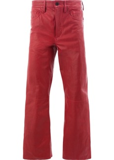 Ann Demeulemeester wide-leg cropped trousers - Red