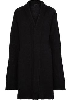 Ann Demeulemeester Woman Alpaca Silk And Mohair-blend Cardigan Black