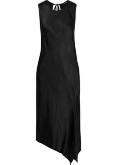 Ann Demeulemeester Woman Asymmetric Tie-back Satin Dress Black