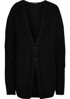 Ann Demeulemeester Woman Bouclé Wool Cardigan Black