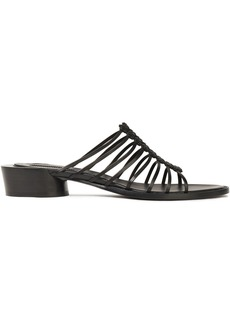 Ann Demeulemeester Woman Braided Leather Mules Black