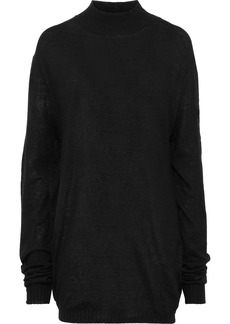 Ann Demeulemeester Woman Brushed Stretch-knit Sweater Black