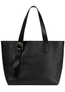 Ann Demeulemeester Woman Buckle-detailed Pebbled-leather Tote Black