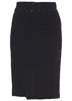 Ann Demeulemeester Woman Button-detailed Twill Pencil Skirt Black