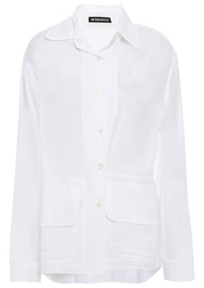 Ann Demeulemeester Woman Cotton And Cashmere-blend Shirt White