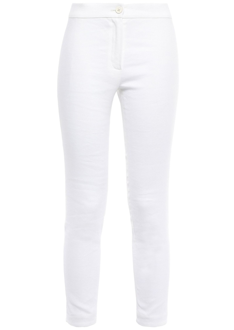 Ann Demeulemeester Woman Cotton-blend Twill Skinny Pants White