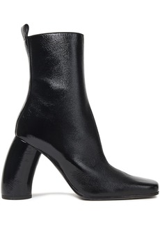 Ann Demeulemeester Woman Crinkled Patent-leather Ankle Boots Black
