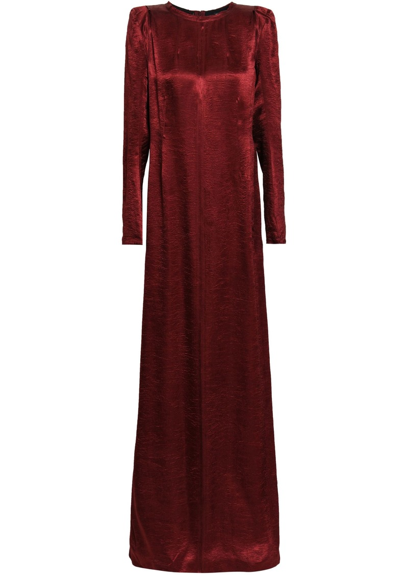 Ann Demeulemeester Woman Crinkled-satin Gown Claret