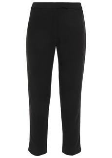 Ann Demeulemeester Woman Cropped Twill Slim-leg Pants Black