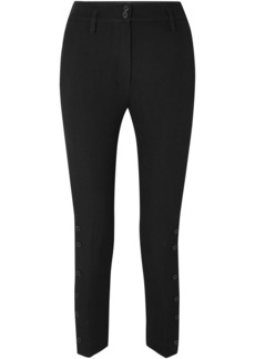 Ann Demeulemeester Woman Cropped Wool And Cotton-blend Twill Skinny Pants Black