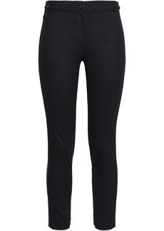 Ann Demeulemeester Woman Cropped Wool-blend Slim-leg Pants Black