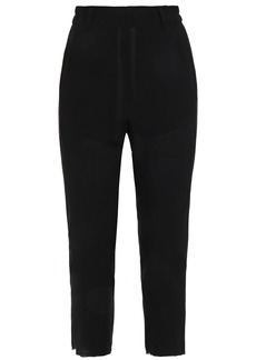 Ann Demeulemeester Woman Cropped Wool-crepe Tapered Pants Black