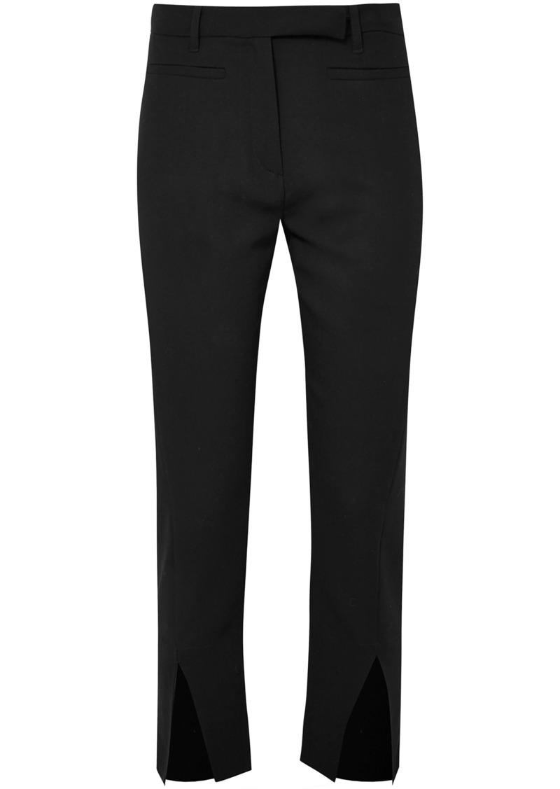 Ann Demeulemeester Woman Cropped Wool Slim-leg Pants Black