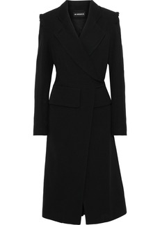 Ann Demeulemeester Woman Double-breasted Wool And Cotton-blend Twill Coat Black