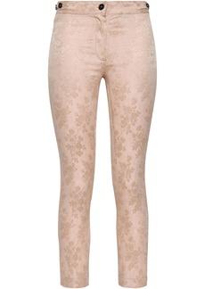 Ann Demeulemeester Woman Floral-jacquard Slim-leg Pants Pastel Pink