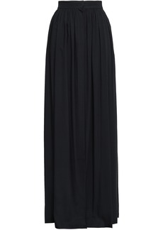 Ann Demeulemeester Woman Gathered Voile Maxi Skirt Black