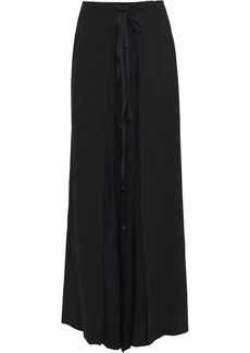 Ann Demeulemeester Woman Layered Chiffon And Satin Maxi Skirt Black