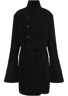 Ann Demeulemeester Woman Lace-up Embellished Wool-blend Crepe Jacket Black