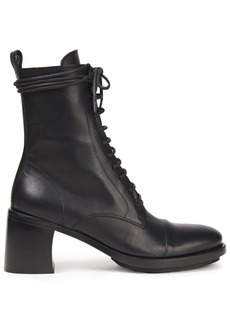 Ann Demeulemeester Woman Lace-up Leather Ankle Boots Black
