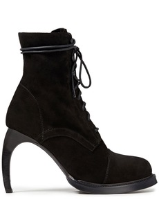 Ann Demeulemeester Woman Lace-up Suede Ankle Boots Black