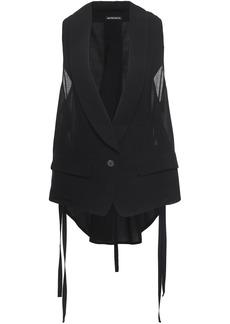 Ann Demeulemeester Woman Lace-up Wool-blend Gauze Vest Black