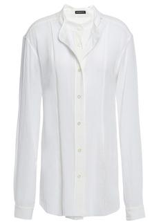 Ann Demeulemeester Woman Layered Cotton-gauze Shirt White
