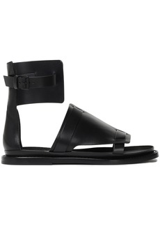 Ann Demeulemeester Woman Leather Sandals Black