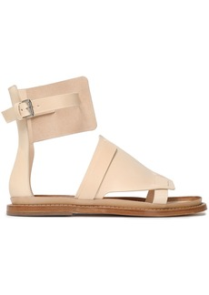 Ann Demeulemeester Woman Leather Sandals Beige
