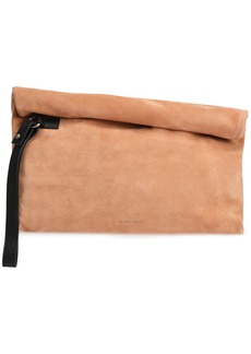 Ann Demeulemeester Woman Leather-trimmed Suede Clutch Blush