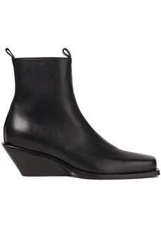 Ann Demeulemeester Woman Leather Wedge Ankle Boots Black