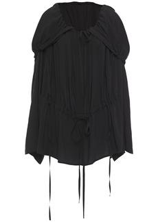 Ann Demeulemeester Woman Oversized Draped Woven Top Black